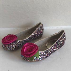 Joyfolie Charlotte glitter pink dress shoe size 9